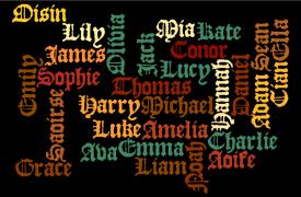 Ireland's most popular names 2016